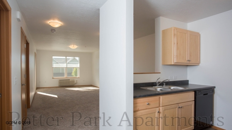Open entry and kitchen